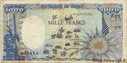 1000 Francs type 1984 modifié TCHAD  1985 P.10A TB+