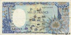 1000 Francs type 1984 modifié TCHAD  1988 P.10 TTB