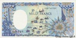 1000 Francs type 1984 modifié TCHAD  1988 P.10 NEUF