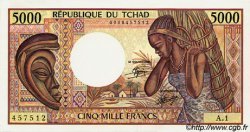 5000 Francs type 1984 TCHAD  1984 P.11 pr.NEUF