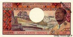 500 Francs type 1973 CENTRAFRIQUE  1973 P.01s SPL