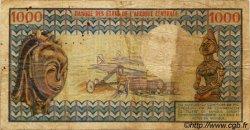 1000 Francs type 1973 CENTRAFRIQUE  1973 P.02 B à TB