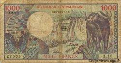 1000 Francs CENTRAFRIQUE  1981 P.10 B