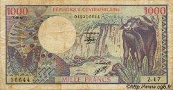 1000 Francs CENTRAFRIQUE  1981 P.10 pr.TB