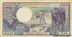 1000 Francs type 1980 CENTRAFRIQUE  1981 P.10 TB+
