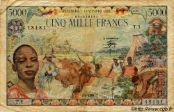 5000 Francs type 1980 CENTRAFRIQUE  1980 P.11 pr.TB