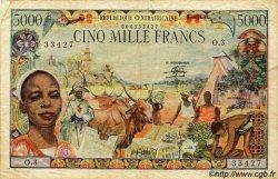 5000 Francs type 1980 CENTRAFRIQUE  1980 P.11 TB+