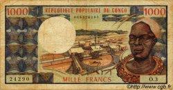 1000 Francs type 1973 CONGO  1973 P.03b TB