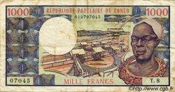 1000 Francs CONGO  1981 P.03e TB