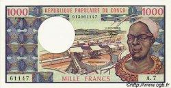 1000 Francs type 1973 modifié CONGO  1981 P.03e pr.NEUF