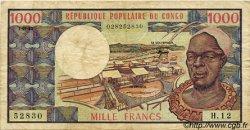 1000 Francs type 1973 modifié CONGO  1983 P.03e TB
