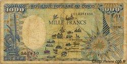1000 Francs type 1984 CONGO  1985 P.09 B