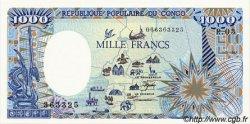 1000 Francs type 1984 modifié CONGO  1987 P.10a NEUF