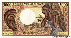 5000 Francs type 1984 CONGO  1984 P.06a pr.NEUF