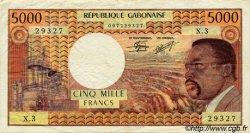 5000 Francs GABON  1971 P.04c TTB