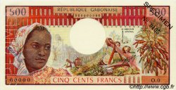 500 Francs type 1973 GABON  1973 P.02as SPL