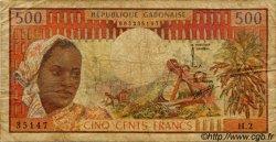 500 Francs type 1973 GABON  1973 P.02a B