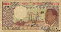 1000 Francs GABON  1984 P.03d B+