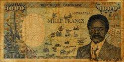 1000 Francs type 1984 modifié GABON  1986 P.10a B
