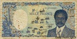 1000 Francs type 1984 modifié GABON  1990 P.10a B