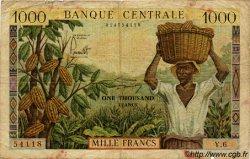 1000 Francs type 1960/1961 avec taille douce CAMEROUN  1960 P.12 B+
