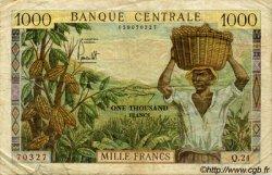1000 Francs type 1960/1961/1967 sans taille douce CAMEROUN  1960 P.12 TB