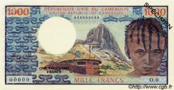 1000 Francs type 1973 CAMEROUN  1973 P.16as SPL