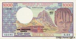1000 Francs type 1973/1984 CAMEROUN  1984 P.21 SPL