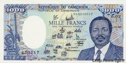 1000 Francs type 1984 modifié CAMEROUN  1986 P.26a pr.NEUF