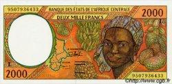 2000 Francs type 1993 GABON  1995 P.403Lc SPL