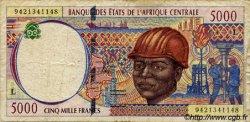 5000 Francs type 1992 GABON  1994 P.404La B+