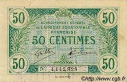 50 Centimes AFRIQUE ÉQUATORIALE FRANÇAISE  1917 P.01a SUP