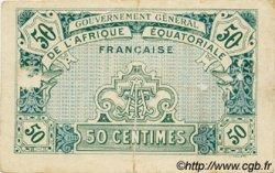 50 Centimes AFRIQUE ÉQUATORIALE FRANÇAISE  1917 P.01a TB+