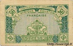 50 Centimes AFRIQUE ÉQUATORIALE FRANÇAISE  1917 P.01a TTB