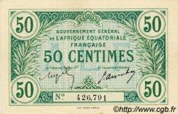 50 Centimes AFRIQUE ÉQUATORIALE FRANÇAISE  1917 P.01a pr.SPL