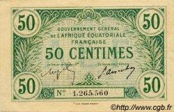 50 Centimes AFRIQUE ÉQUATORIALE FRANÇAISE  1917 P.01b pr.SUP