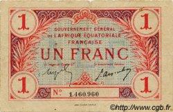 1 Franc AFRIQUE ÉQUATORIALE FRANÇAISE  1917 P.02a TB