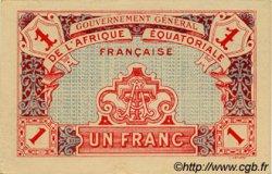 1 Franc AFRIQUE ÉQUATORIALE FRANÇAISE  1917 P.02a SPL