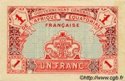 1 Franc AFRIQUE ÉQUATORIALE FRANÇAISE  1917 P.02a SUP+