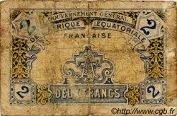 2 Francs AFRIQUE ÉQUATORIALE FRANÇAISE  1917 P.03 B