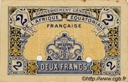 2 Francs AFRIQUE ÉQUATORIALE FRANÇAISE  1917 P.03- TTB+