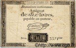10 Livres FRANCE  1792 Laf.161a TB