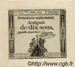 10 Sous FRANCE  1793 Laf.165 pr.NEUF