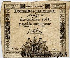 15 Sols FRANCE  1793 Laf.166 B à TB