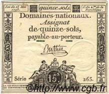 15 Sols FRANCE  1793 Laf.166 SUP