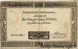 25 Livres FRANCE  1793 Laf.168 B