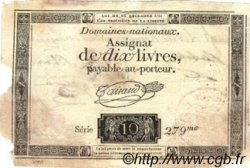 20 Livres sur 10 Livres FRANCE  1793 Laf.227 B