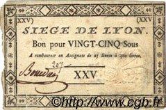 25 Sous siège de Lyon FRANCE  1793 Laf.255 TTB