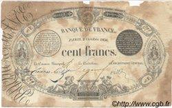 100 Francs 1848 Transposé FRANCE  1856 F.A25.01 TB
