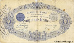 500 Francs 1863, indices noirs FRANCE  1879 F.A40.14 B+